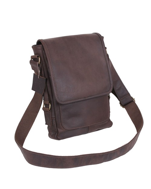 Rothco 57950 Brown Leather Military Tech Bag