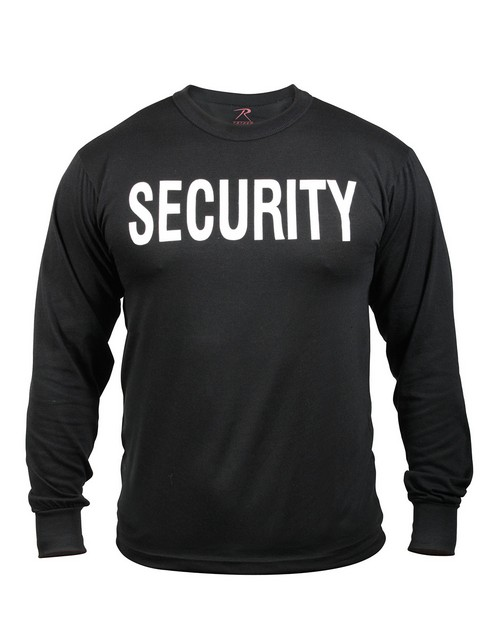 Rothco 60222 2-Sided Security Long Sleeve T-Shirt
