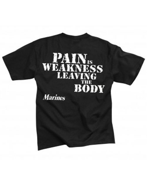 Rothco 60417 Marines Pain Is Weakness T-Shirt