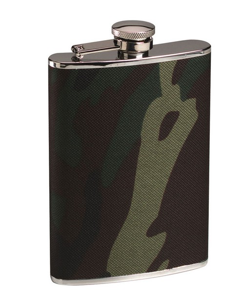 Rothco 651 Woodland Camo Stainless Steel Flask