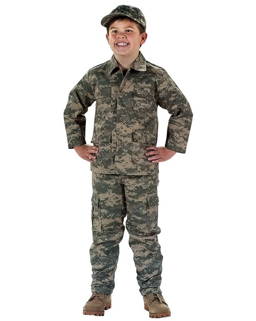 Rothco 66210 Kids Digital Camo BDU Shirt