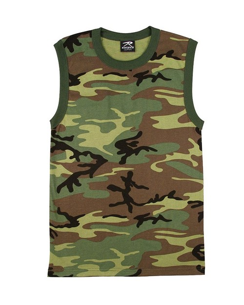 Rothco 6700 Woodland Camo Muscle Shirt