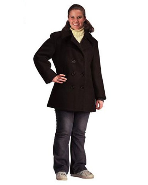 Rothco 7038 Women's Navy Type Black Wool Peacoat