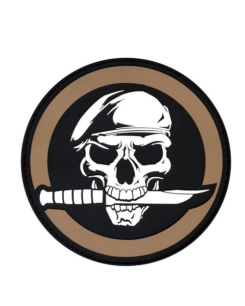 Rothco 72197 PVC Military Skull & Knife Morale Patch