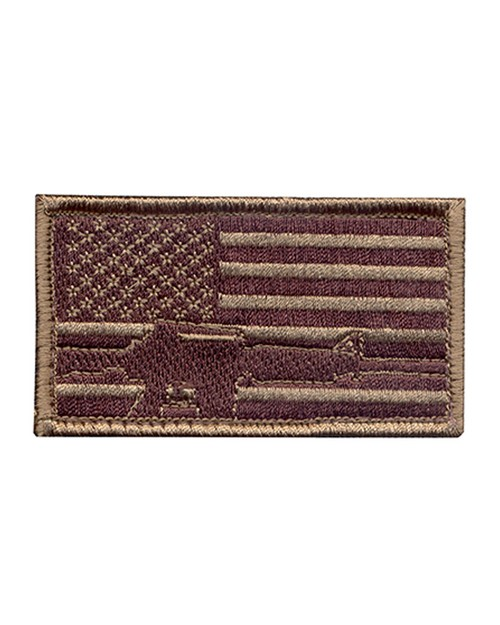 Rothco 72204 Subdued Flag & Rifle Morale Patch