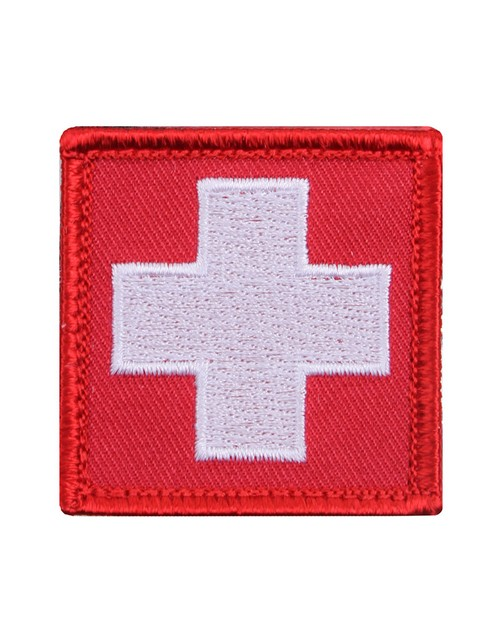 Rothco 72205 White Cross Red Morale Patch