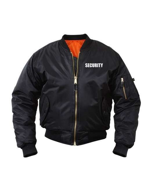 Rothco 7357 MA-1 Flight Jacket With Security Print