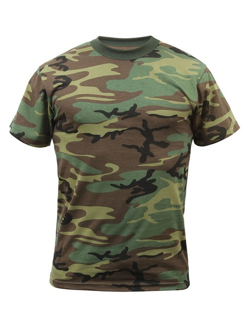 Rothco 7703 Childrens Woodland Camo Heavyweight T-Shirt