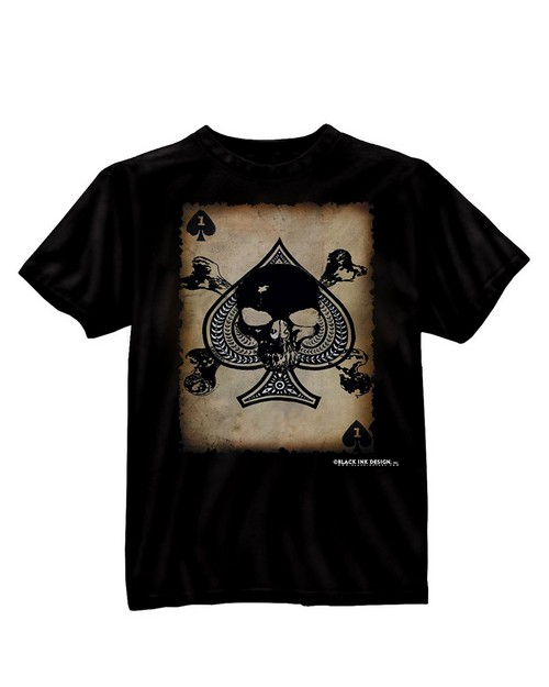 Rothco 80300 Black Ink Death Card T-Shirt
