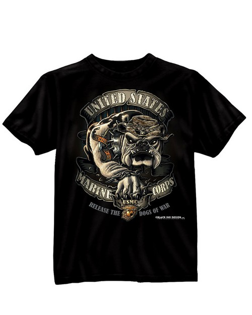 Rothco 80330 Black Ink U.S.M.C. Bulldog T-Shirt