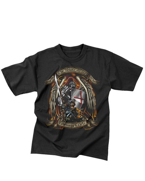 Rothco 80435 Black Ink Put On The Whole Armor Of God T-Shirt