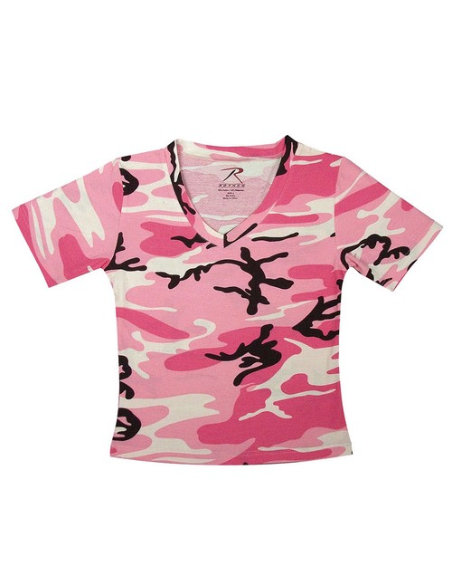 Rothco 8066 Women's Short Sleeve Camo V-Neck T-Shirt