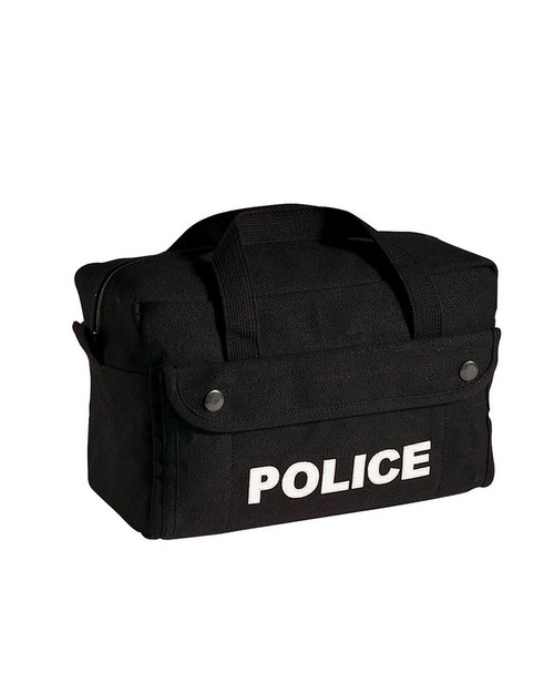 Rothco 8185 Canvas Small Black Police Logo Gear Bag