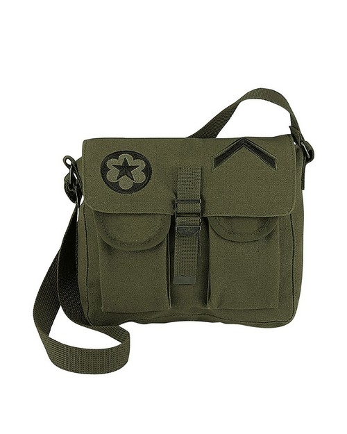 Rothco 8277 Canvas Ammo Shoulder Bag with Military Patches