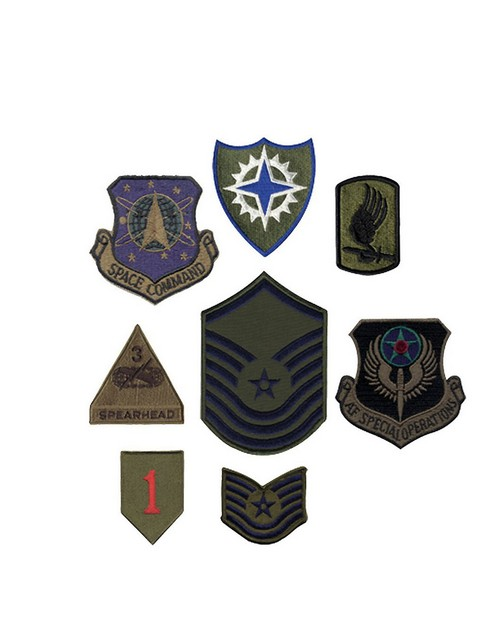 Rothco 8380 Subdued Military Assorted Military Patches