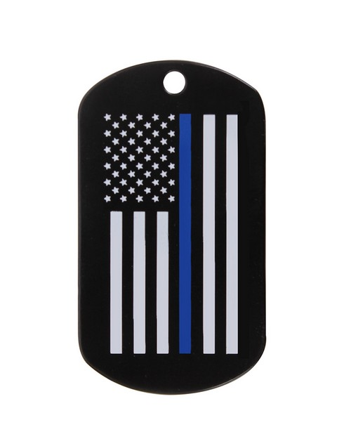 Rothco 8513 Thin Blue Line Dog Tag