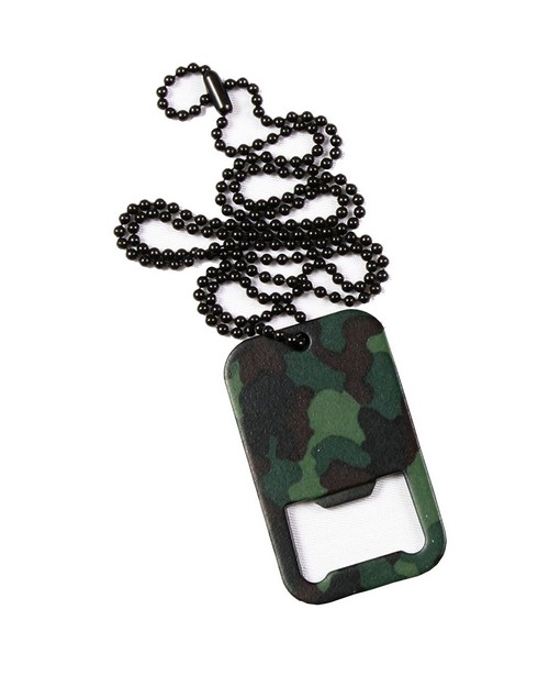 Rothco 8794 Dog Tag Bottle Opener With Chain