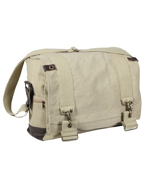 Rothco 9110 Vintage Canvas B-15 Pilot Messenger Bag
