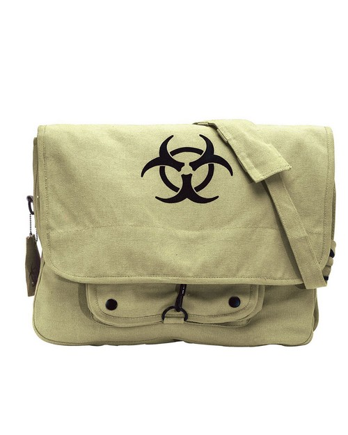 Rothco 9139 Vintage Canvas Paratrooper with Bio-Hazard Symbol Bag