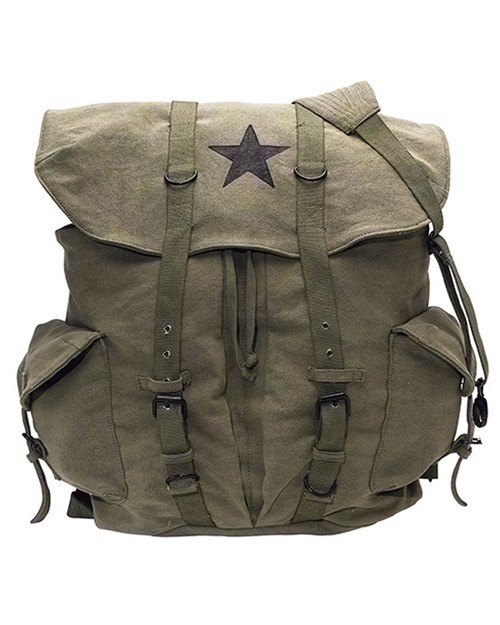 Rothco 9158 Vintage Weekender Canvas Backpack with Star