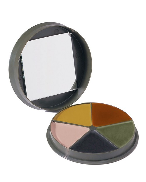 Rothco 9205 GI Type 5 Color Camo Face Paint - Round Compact