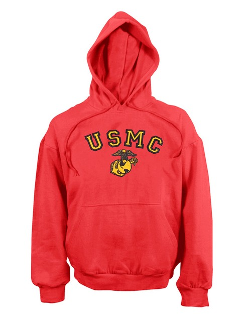 Rothco 9222 USMC Globe & Anchor Pullover Hooded Sweatshirt