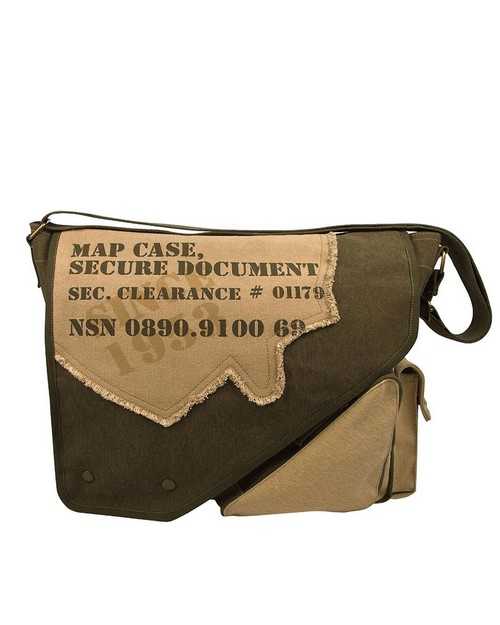 Rothco 9248 Vintage Canvas Two-Tone Imprinted Map Bag