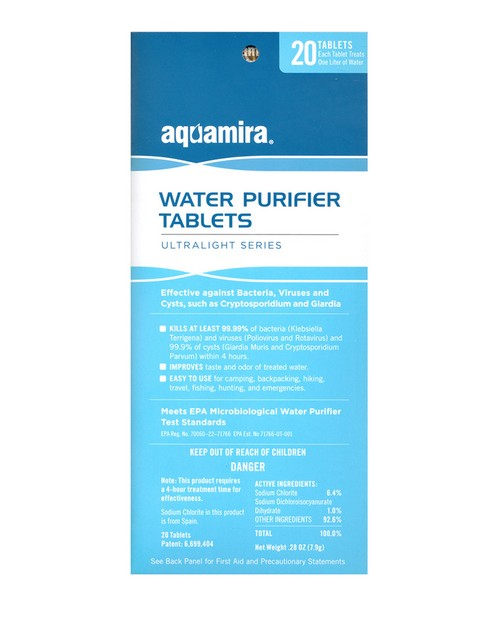 Rothco 9432 Aquamira Water Purification Tablets 20 Pack