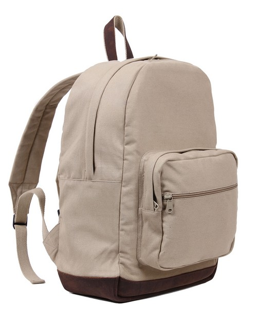 Rothco 9616 Vintage Canvas Teardrop With Leather Accents Backpack
