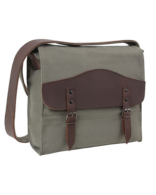 Rothco 9671 Vintage Canvas Medic Bag with Leather Accents