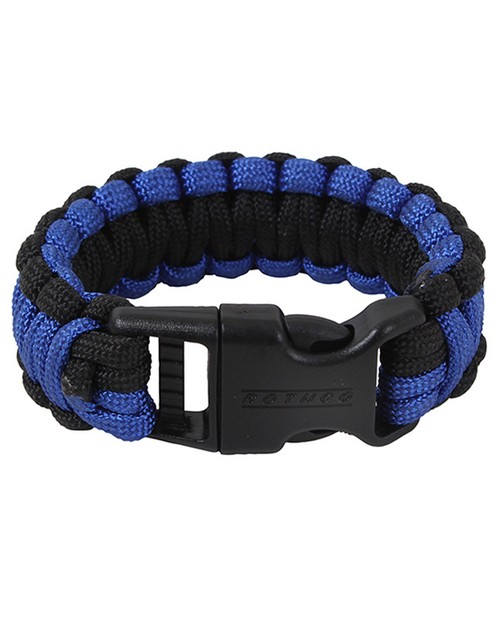 Rothco 973 Deluxe Thin Blue Line Paracord Bracelet