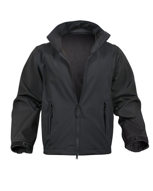 Rothco 9834 Black Soft Shell Uniform Jacket