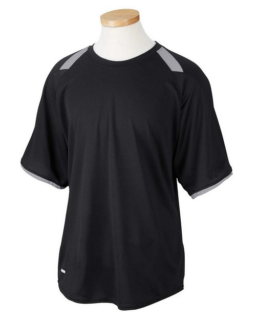 Russell Athletic 6B6DPM Dri-Power Tee with Colorblock Inserts