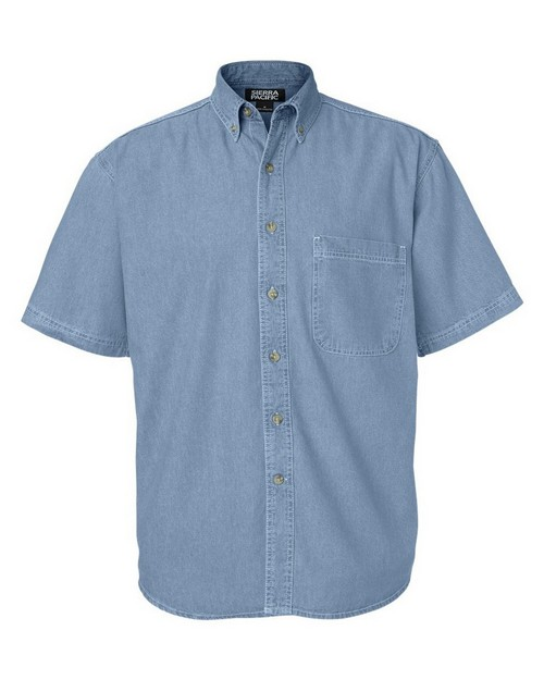 Sierra Pacific 0211 Mens Short Sleeve Denim
