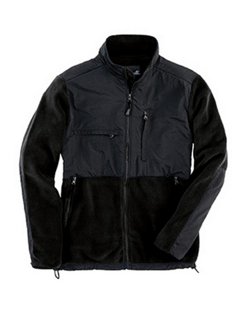 Sierra Pacific 3071 Adult Full-Zip Nylon And Fleece Jacket