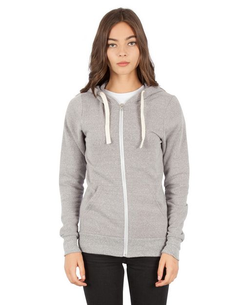 Simplex Apparel SI3670 Unisex Tri-Blend Full-Zip Hoodie T-Shirt