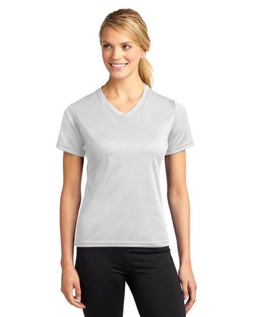 Sport-Tek L468V Dri-Mesh Ladies V-Neck T-Shirt by Port Authority