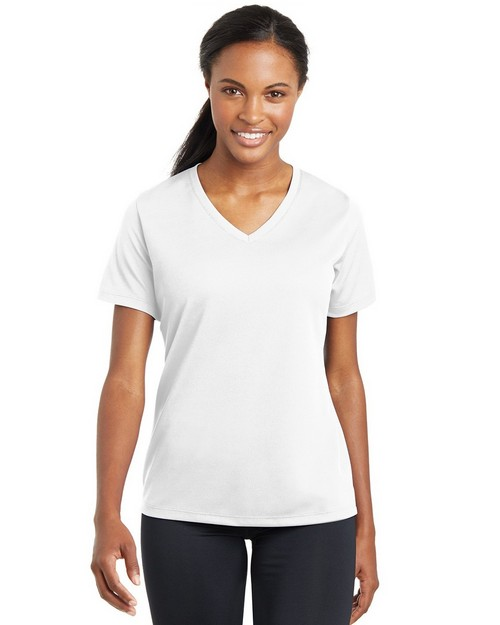 Sport-Tek LST340 Ladies PosiCharge RacerMesh V-Neck T-Shirt