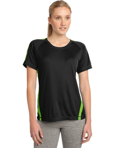 Sport-Tek LST351 Ladies Colorblock Competitor Tee by Port Authority