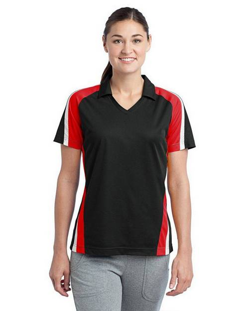 Sport-Tek LST654 Ladies Tricolor Micropique Sport-Wick Polo by Port Authority