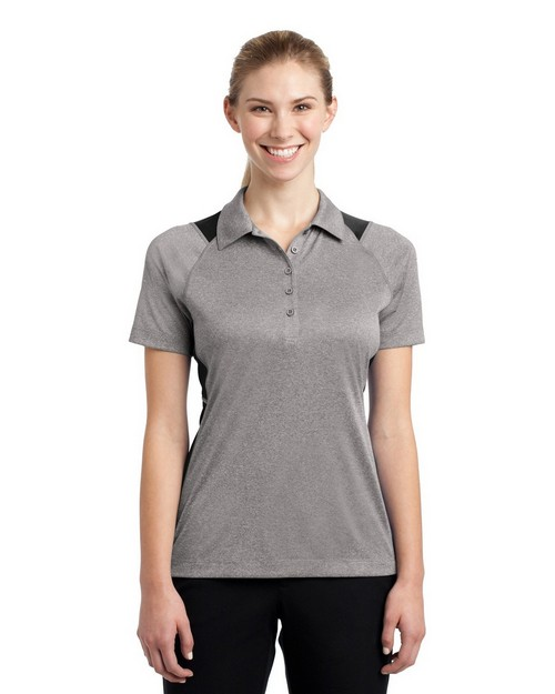 Sport-Tek LST665 Ladies Heather Colorblock Contender Polo by Port Authority