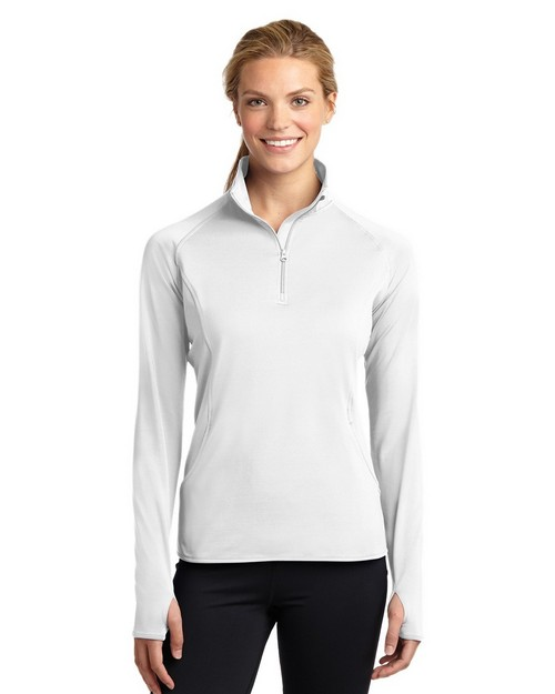 Sport-Tek LST850 Ladies Sport-Wick Stretch 1/2-Zip Pullover by Port Authority