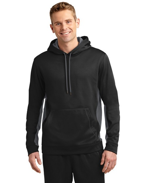 Sport-Tek ST235 Sport-Wick Fleece Colorblock Hooded Pullover