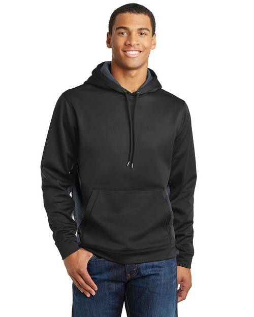 Sport-Tek ST239 Sport-Wick CamoHex Fleece Colorblock Hooded Pullover