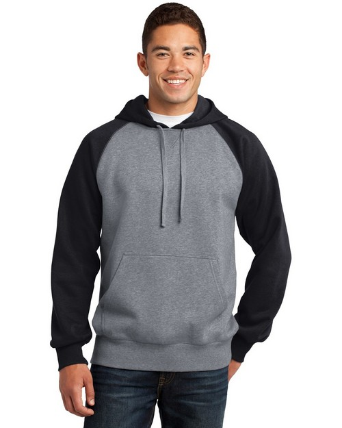 Sport-Tek ST267 Raglan Colorblock Pullover Hooded Sweatshirt by Port Authority