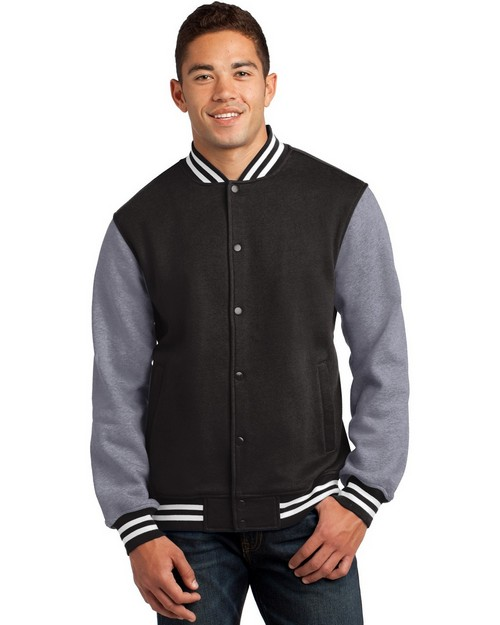 Sport-Tek ST270 Fleece Letterman Jacket by Port Authority
