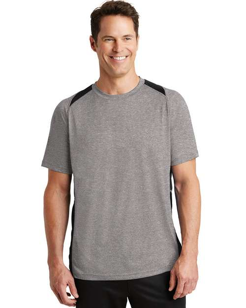 Sport-Tek ST361 Heather Colorblock Contender Tee by Port Authority