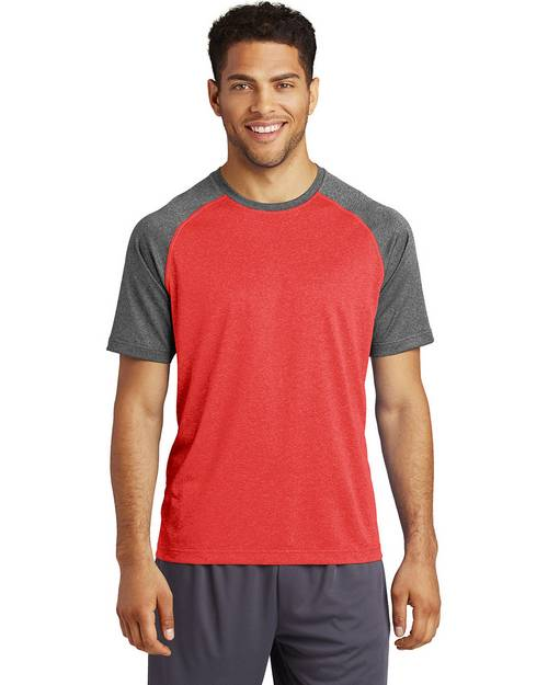 Sport-Tek ST362 Mens Heather On Heather Contender T-Shirt