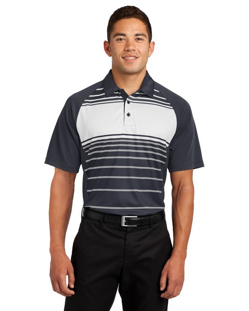Sport-Tek ST600 Dry Zone Sublimated Stripe Polo by Port Authority