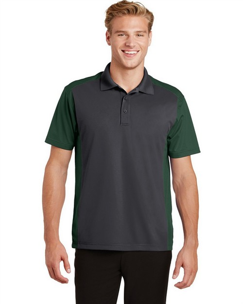 Sport-Tek ST652 Colorblock Micropique Sport-Wick Polo